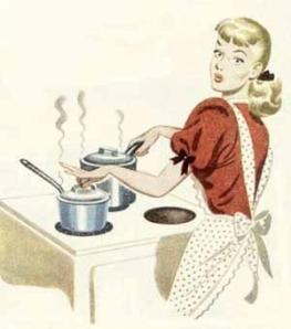 aan de kookpot staan